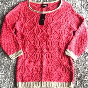 BNWT Bebe coral sweater
